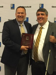 Goodwill North Central Texas President & CEO David Cox with Goodwill Industries International President & CEO Jim Gibbons